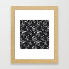 Almost Geometric Jewels Pattern #black Framed Art Print