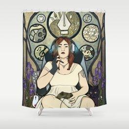 Gamer girl Shower Curtain