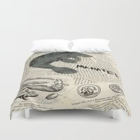 manatee Duvet Covers featuring Manatee by Cassidy Tebeau