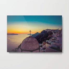 Adorable Santorini Metal Print