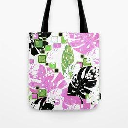 Tropical pattern #tropics #monstera #monstera leaves #leaves Tote Bag
