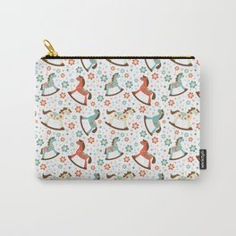 Rocking horses pattern Carry-All Pouch