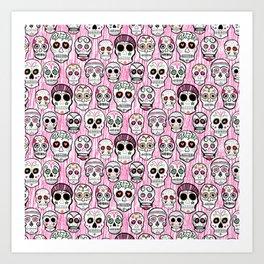 sugar skull tastic Art Print