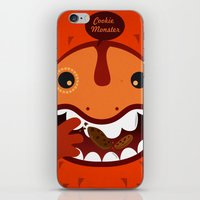 cookie monster iPhone & iPod Skins featuring Cookie Monster by Ilias Sounas