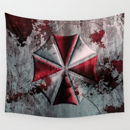 Umbrella with blood Wall Tapestry