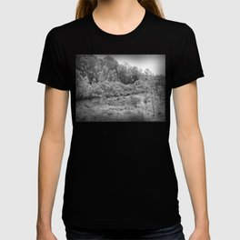 Magnificent River in Black and White T-shirt