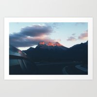 sunsets in paradise Art Print