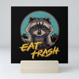 Eat Trash Mini Art Print