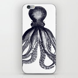 Octopus | Black and White iPhone Skin