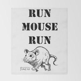 Run Mouse Run Throw Blanket