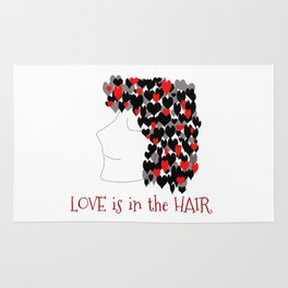 love is in the hair Rug