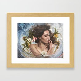 Storm with Skin Framed Art Print