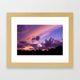 candy skys. Framed Art Print