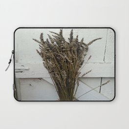 Dried lavender on the fence Laptop Sleeve