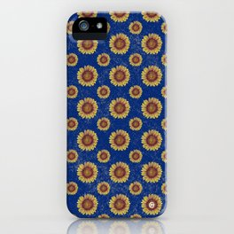 Swirly Sunflower iPhone Case