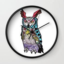 Mayan NightOwl Wall Clock