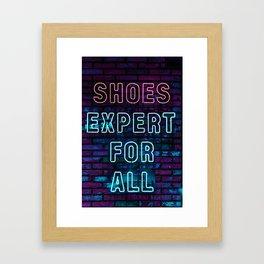 ABC Mart Korea Neon Art Framed Art Print