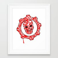gears of war Framed Art Prints featuring Gears Of War Design [2] by Megan Yiu