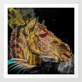 Zamara the Giraffe Art Print