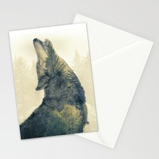 Wolf Howl - Double Exposure Stationery Cards