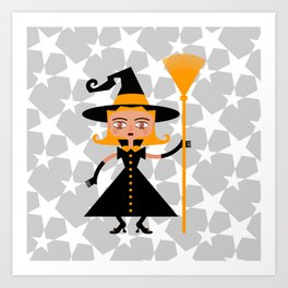 Beware of wicked witch! Art Print