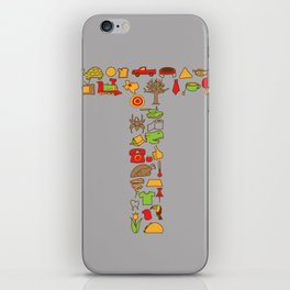 Letter T iPhone Skin