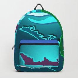 New Zealand Waka Map Backpack