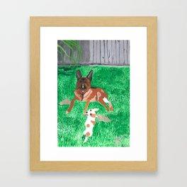 paintin pups Framed Art Print