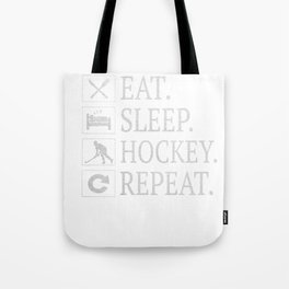 Eat Sleep Hockey Repeat Gift Ice Sport Game Present Tote Bag