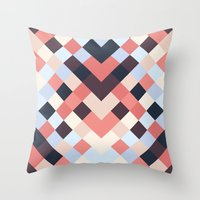 coral Throw Pillows featuring CORAL by Sorbetedelimon
