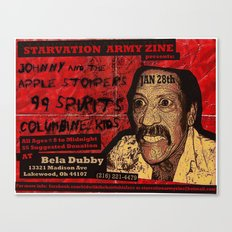 Show Flyer, 1/28/12 (Johnny and the Apple Stompers) Canvas Print