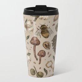 Nature Walks (Light Background) Metal Travel Mug