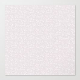 Noel Let it Snow Pink Canvas Print