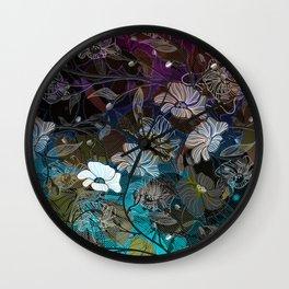 Floral Border Wall Clock