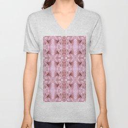 Pastel Old Rose Flower Pattern Unisex V-Neck