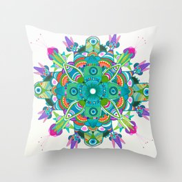 Turquoise dream Mandala  Throw Pillow