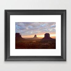 Sunrise over Monument Valley Framed Art Print