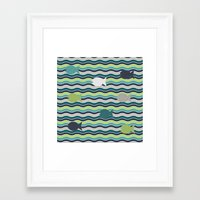 under the sea Framed Art Prints featuring Under The Sea by LLL Creations