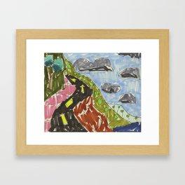 Drawing: Coal Coast XVIII (2013) Framed Art Print