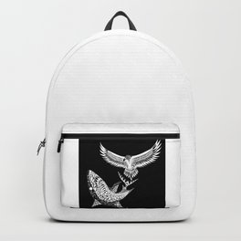 The shark and the eagle back in black Backpack