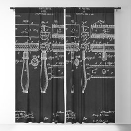 1904 Razor Patent Barber Beard Blackout Curtain