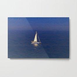 Yacht Storm Art Metal Print
