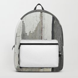 Vintage Latch on Weathered Wood Backpack