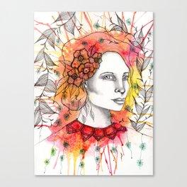 Floral Lady 2 Canvas Print