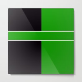 Team Color 6...Green,black Metal Print