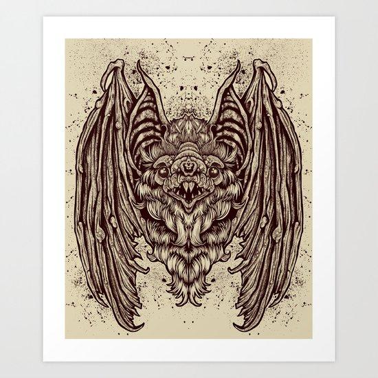 Theres a BAT! Art Print
