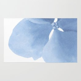 Pansy Flower. Big blue flower Rug