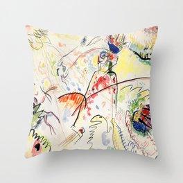 Wassily Kandinsky Small Pleasures Throw Pillow