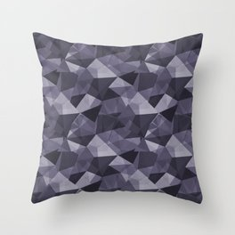 Abstract Geometrical Triangle Patterns 4 VA Mystical Purple - Metropolis Lilac - Dried Lilacs Throw Pillow