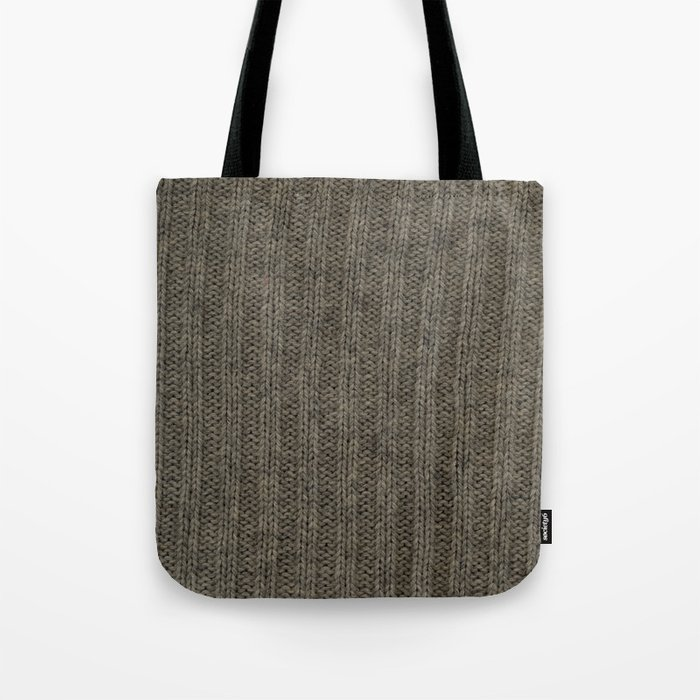 Gray Wool Tote Bag By Mapart